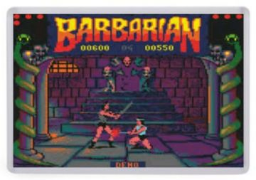 Barbarian Fridge Magnet (Amstrad Screenshot)